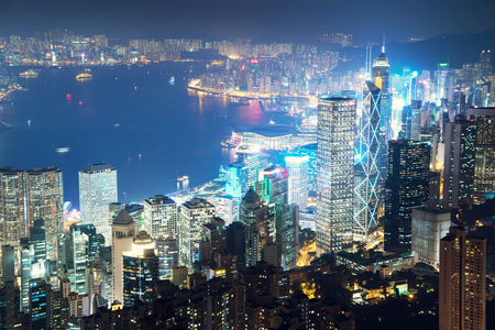 victoria: Hong kong from the Victoria peak