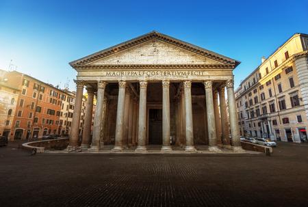 roma antigua: Pante�n en Roma, Italia Foto de archivo