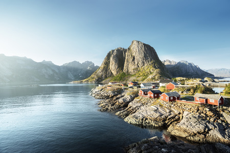 norway: Fishing hut  in the Hamnoy - Reine, Lofoten islands, Norway