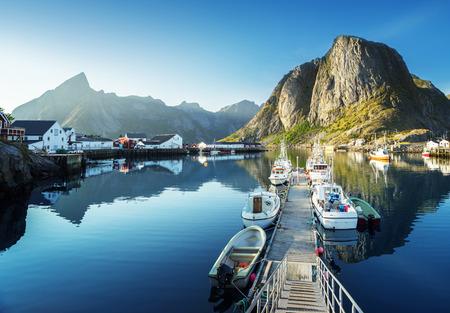 lofoten: sunset - Reine, Lofoten islands, Norway