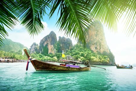 krabi: Railay beach in Krabi Thailand Stock Photo