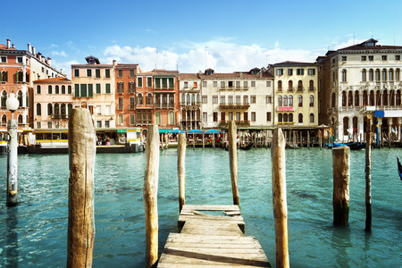 old houses: Grand Canal, Venice, Italy