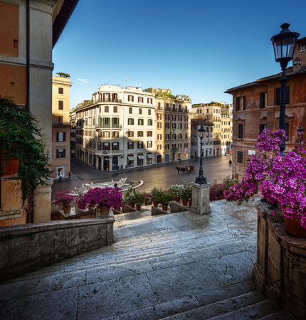 spanish landscapes: Spanish Steps, Rome, Italy