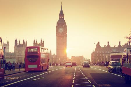 Westminster Bridge at sunset, London, UK Zdjęcie Seryjne - 53537827
