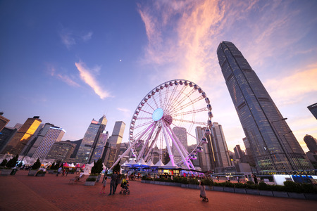 Observation Wheel, Hong Kong 写真素材