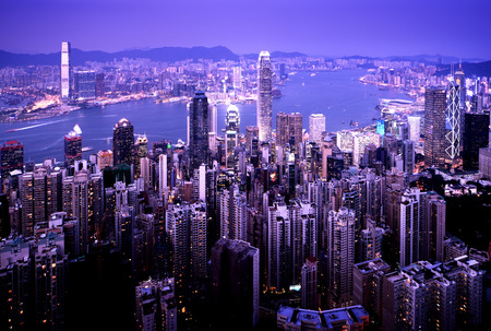 hong kong night: Hong kong from the Victoria peak