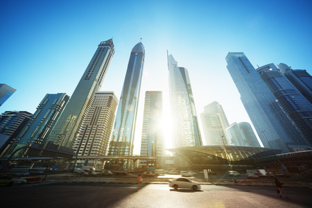 Sheikh Zayed road, United Arab Emirates 版權商用圖片