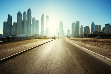 road in Dubai, United Arab Emirates Banco de Imagens