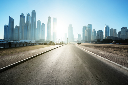 road in Dubai, United Arab Emirates Stock Photo