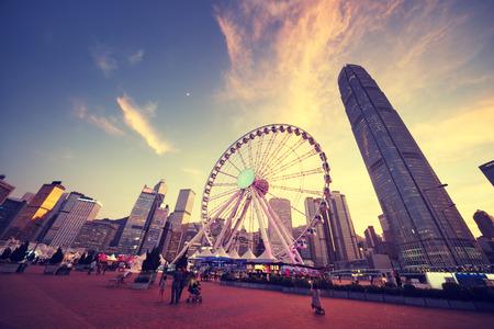 observation: Observation Wheel, Hong Kong Stock Photo
