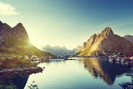 fishing huts: Reine Village, Lofoten Islands, Norway