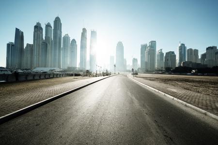 road in Dubai, United Arab Emirates Archivio Fotografico