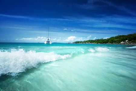 lazio: Anse Lazio beach at Praslin island, Seychelles