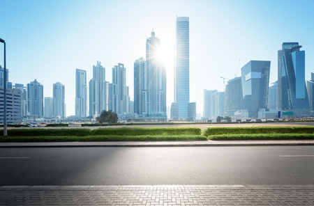 Dubai skyline, United Arab Emirates Standard-Bild