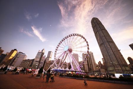 observation wheel: Observation Wheel, Hong Kong Stock Photo