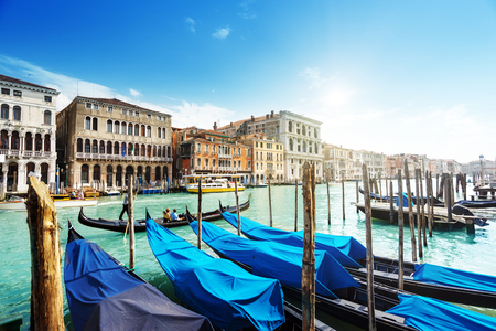 europeans: gondolas in Venice, Italy. Stock Photo