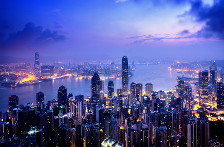 Hong Kong from the Victoria peak Standard-Bild
