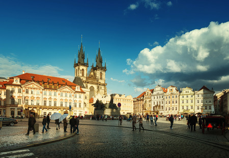 old town square: Old Town Square in Prague. Czech Republic Editorial