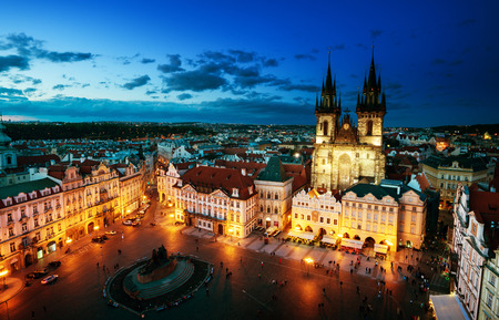 old town square: Old town square in Prague, Czech republic