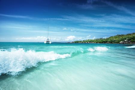 lazio: beach at Seychelles, Praslin, Anse Lazio
