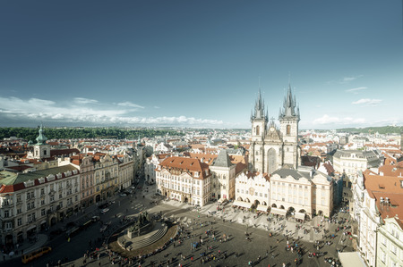 old town square: Old town square in Prague,