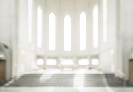 Bokeh Innere des modernen Lutheraner, christliche Kirche Standard-Bild - 61140094