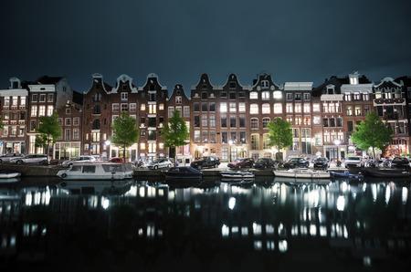 avond uitzicht van Amsterdam, Holland Stockfoto