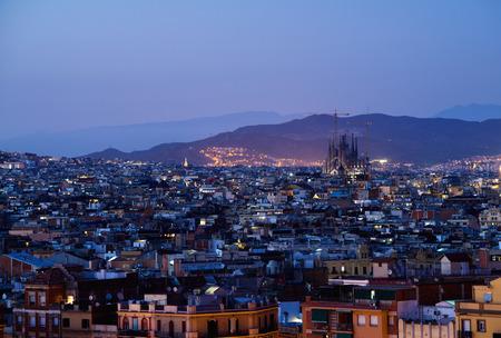 montjuic: Barcelona in sunset time, Spain