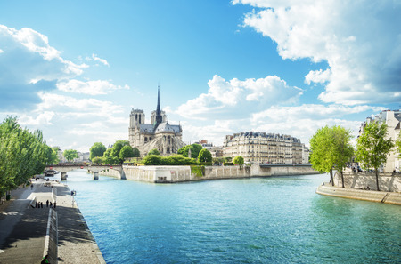 city landscape: Notre Dame Paris, France