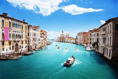 Grand Canal and Basilica Santa Maria della Salute, Venice, Italy Stock Photo