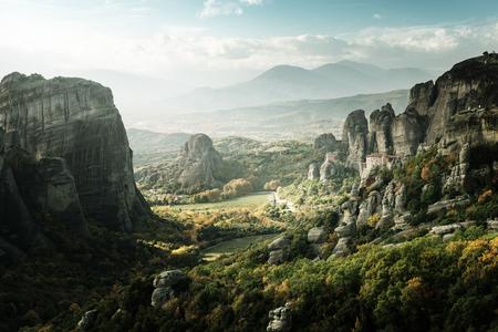 monasteri: Meteora monasteries in Greece Archivio Fotografico