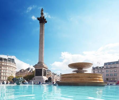 popular: fountain on the Trafalgar Square, London, UK   Stock Photo