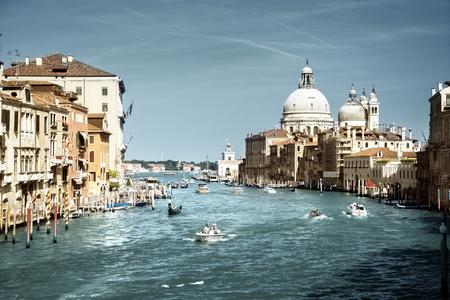 popular: Grand Canal and Basilica Santa Maria della Salute, Venice, Italy Stock Photo