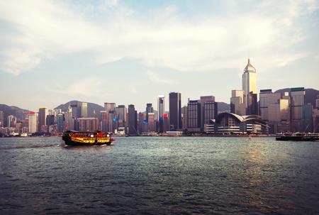 harbour: Hong Kong harbour Stock Photo