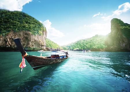 boat on the beautiful sea, Phi Phi island, Thailand