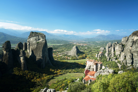 Meteora monasteries in Greece Editorial