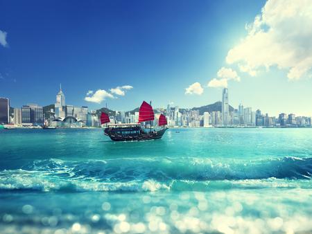 Hong Kong and tilt shift effect