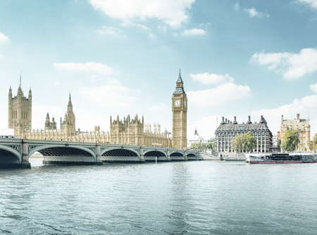 europe: Big Ben and Houses of Parliament, London, UK Stock Photo