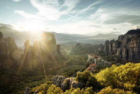 Meteora monasteries in Greece Banco de Imagens