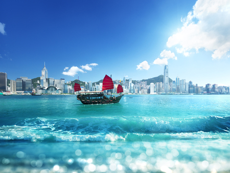 island: Hong Kong and tilt shift effect
