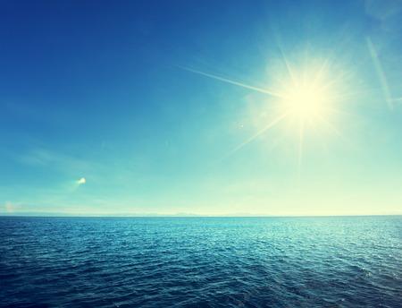 Perfecte lucht en tropische oceaan