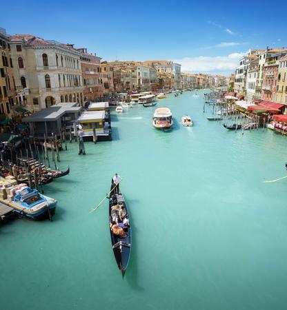 Grand Canal in Venetië, Italië Redactioneel