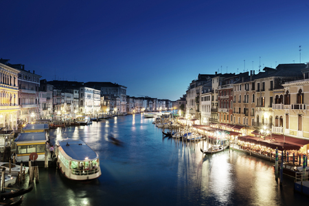 Grand Canal in sunset time, Venice, Italy Editorial