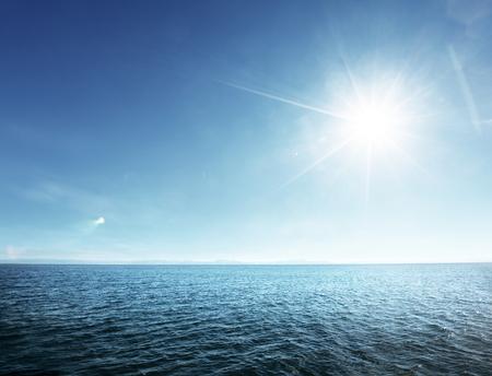 perfecte hemel en tropische oceaan Stockfoto