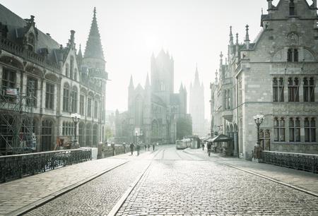 Historic houses in Ghent, Belgium