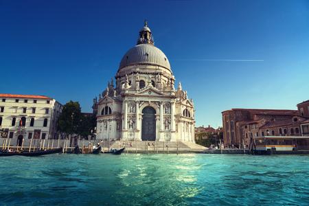 Grand Canal and Basilica Santa Maria della Salute, Venice, Italy Editorial