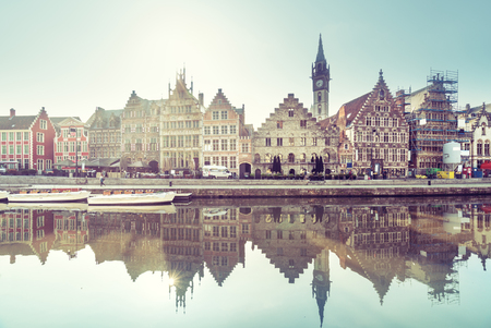 old town of Ghent, Belgium