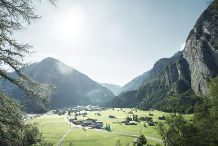 Mountain village, Jungfrau region, Bernese Oberland, Switzerland