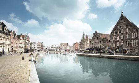 Vieille ville de Gand, Belgique Banque d'images - 89413220