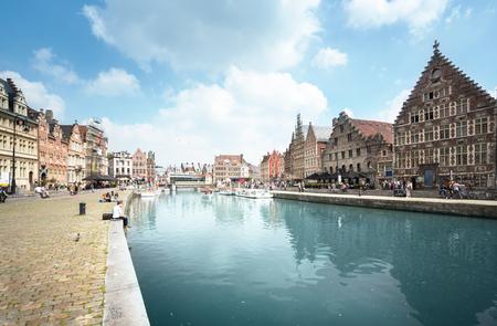 Vieille ville de Gand, Belgique Banque d'images - 89341135